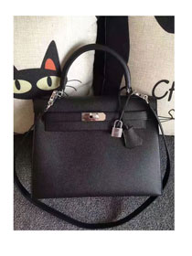 Hermes original epsom leather kelly 28 bag K28-1 black
