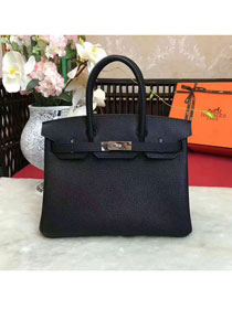 Hermes original togo leather birkin 25 bag H25-1 black