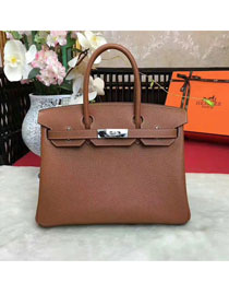 Hermes original togo leather birkin 25 bag H25-1 coffee
