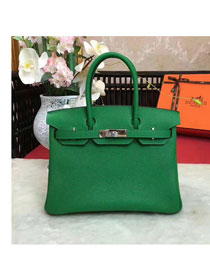Hermes original togo leather birkin 25 bag H25-1 green
