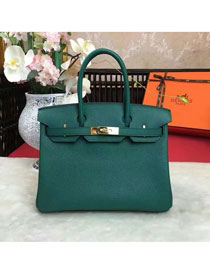 Hermes original togo leather birkin 25 bag H25-1 olive