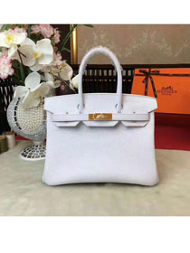 Hermes original togo leather birkin 25 bag H25-1 white