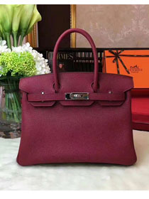 Hermes original togo leather birkin 30 bag H30-1 burgundy