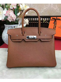 Hermes original togo leather birkin 30 bag H30-1 coffee