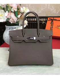 Hermes original togo leather birkin 30 bag H30-1 gray