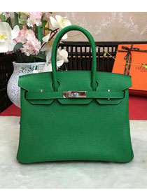 Hermes original togo leather birkin 30 bag H30-1 green