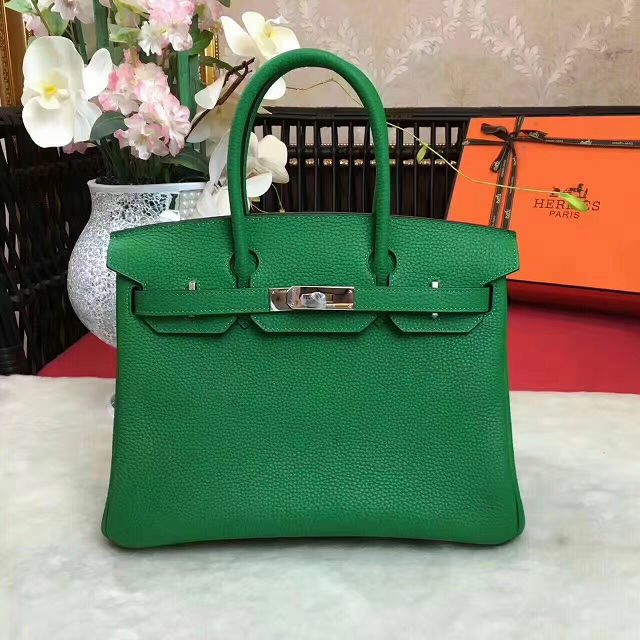 Hermes original togo leather birkin 30 bag H30-1 green c45b2e87de18d