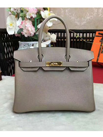 Hermes original togo leather birkin 30 bag H30-1 light gray