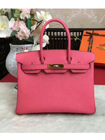 Hermes original togo leather birkin 30 bag H30-1 rose red