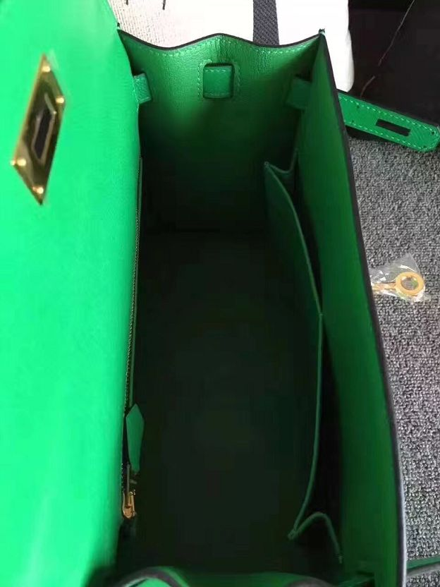 Hermes original epsom leather kelly 28 bag K28-1 green