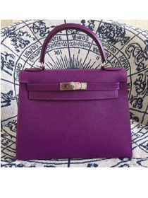 Hermes original epsom leather kelly 28 bag K28-1 purple