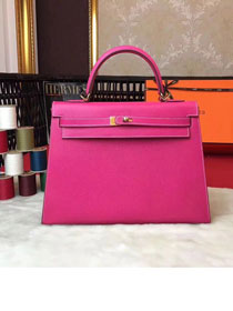 Hermes original epsom leather kelly 28 bag K28-1 rose red