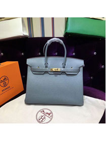 Hermes top togo leather birkin 25 bag H25-2 blue