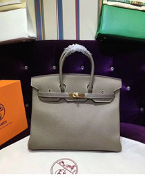 Hermes top togo leather birkin 25 bag H25-2 gray