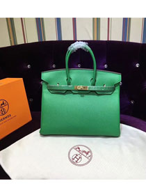Hermes top togo leather birkin 25 bag H25-2 green