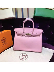 Hermes top togo leather birkin 25 bag H25-2 pink