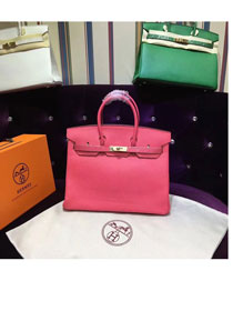 Hermes top togo leather birkin 25 bag H25-2 watermelon red