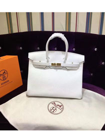 Hermes top togo leather birkin 25 bag H25-2 white
