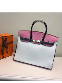 Hermes top togo leather birkin 25 bag H25-2 white&pink
