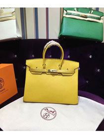 Hermes top togo leather birkin 25 bag H25-2 yellow