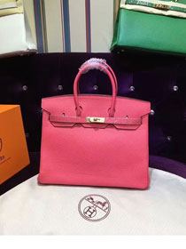Hermes top togo leather birkin 30 bag H30-2 watermelon red