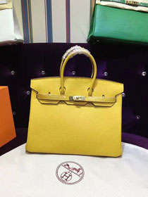 Hermes top togo leather birkin 30 bag H30-2 yellow