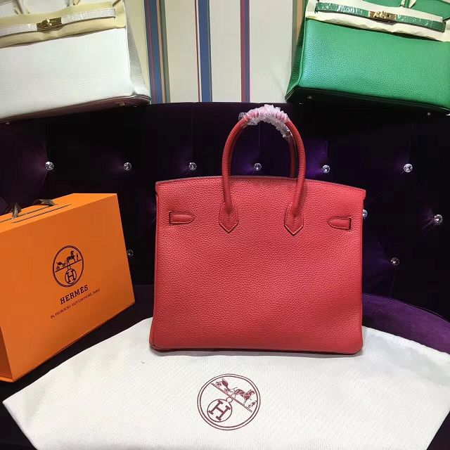 Hermes top togo leather birkin 35 bag H35-2 red 6e6815a20abcb