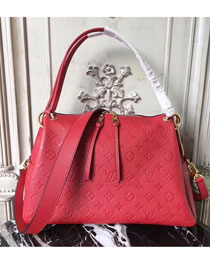 2017 louis vuitton original monogram empreinte leather ponthieu pm M43720 red