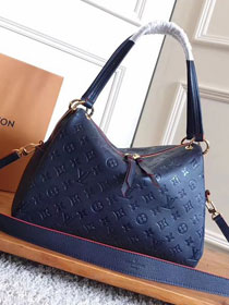2017 louis vuitton original monogram empreinte leather ponthieu pm M43721 deep blue