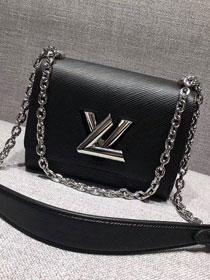 ee94f5f9a0bc 2017 louis vuitton top original epi leather twist pm M50323 black