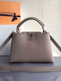 2017 Louis vuitton original taurillon leather capucines BB M54419 gray