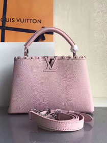 2017 Louis vuitton original taurillon leather capucines BB M54419 pink