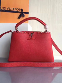2017 Louis vuitton original taurillon leather capucines BB M54419 red