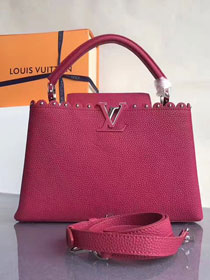 2017 Louis vuitton original taurillon leather capucines BB M54419 rose red