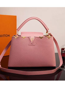 2017 Louis vuitton original taurillon leather capucines BB M54665 pink