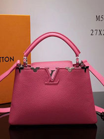 2017 Louis vuitton original taurillon leather capucines BB M54665 rose red