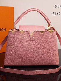 2017 Louis vuitton original taurillon leather capucines PM M54664 pink