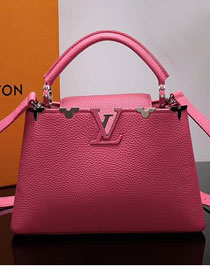 2017 Louis vuitton original taurillon leather capucines PM M54664 rose red