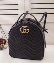 2017 GG Marmont original quilted leather backpack 476671 black