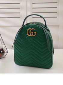 2017 GG Marmont original quilted leather backpack 476671 green