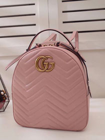 9be81e71b1fd 2017 GG Marmont original quilted leather backpack 476671 pink