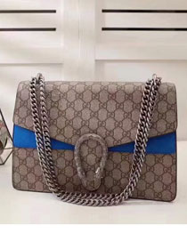 2017 GG dionysus medium supreme shoulder bag 400235 blue