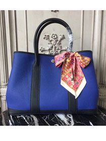 Hermes hand-made original calfskin garden party 36 bag G0360 blue&black