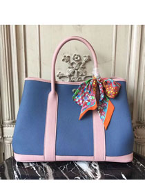 Hermes hand-made original calfskin garden party 36 bag G0360 blue&pink