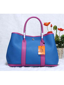 Hermes calfskin garden party 30 bag G30 brilliant blue&purple