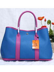 Hermes calfskin garden party 36 bag G36 brilliant blue&purple