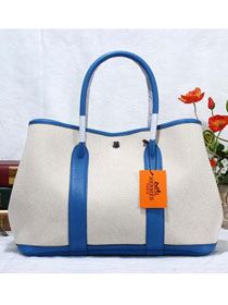 Hermes original canvas garden party 36 bag G36 brilliant blue