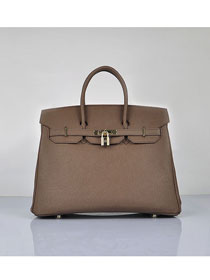 Hermes original epsom leather birkin 30 bag H30 dark coffee