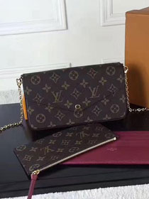 Louis vuitton original monogram canvas pochette felicie M61276