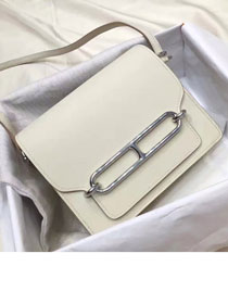 Hermes original swift leather roulis bag R018 white